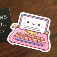 Kawaii Typewriter Sticker