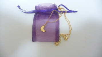 Galactic Gold Moon Necklace