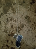 Silver and Blue Sansa Necklace