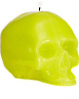 D.L & Co Medium Green Skull Candle