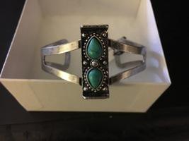 Bay to Baubles Tasha Double Stone Cuff Bracelet