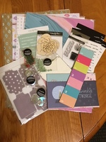 Messy Box Mixed Lot Scrapbook Supplies