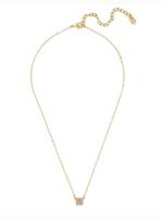 Bauble Bar gray druzy pendant necklace