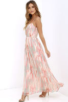 Step Bright Up Maxi Dress