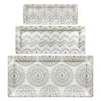 Dena™ Home Jaida Bone 3-Piece Serving Tray Set in White