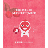J.J. young pore rosehip mud sheet mask by caolion lab