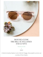 Bonnie Clyde The Hill Sunglasses Exclusive