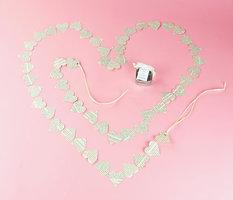 Novel Adornment Paper Heart Garland