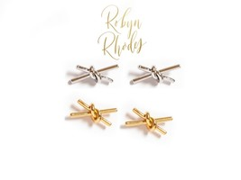 Robyn Rhodes Barbed Wire Gold Earrings