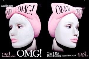 Double Dare OMG! 2 IN 1 Detox Bubbling Microfiber Mask