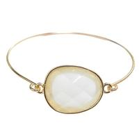 Gemma Gemstone Gold Bangle Bracelet