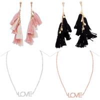 Ettika Day Dreamer Tassel Earrings ($58) OR Maya Brenner Designs Love Bracelet ($65)