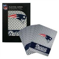 New England Patriots Playing Cards - Diamond Plate