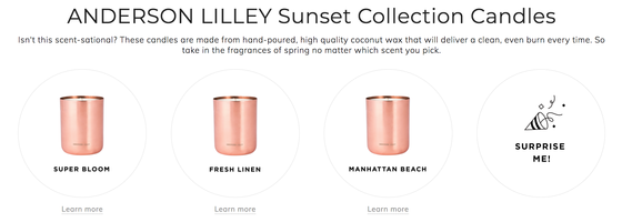 Anderson Lilley Sunset Collection Candle – Retail Value $45