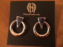 House of Harlow Gold Ring Earrings With Posts