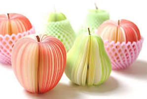 Fresh Fruit Notepad Pear