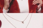 Summer & Rose Layered XO Necklace in Rose Gold