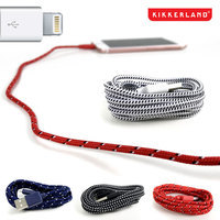 6 Foot Cloth Covered iPhone Cables by Kikklerland
