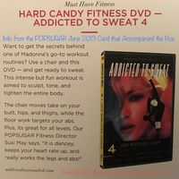 "HARD CANDY FITNESS DVD—""ADDICTED TO SWEAT #4"" Madonna's Trainer's Chair Workout DVD"