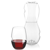"FESTIVAL | DECANTER & WINE GLASS SET (Formerly, ""Go-Anywhere Carafe and Water Glass Set"""