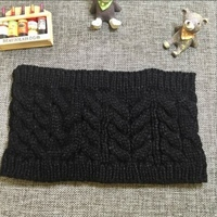 Knit Cable Headband in Black