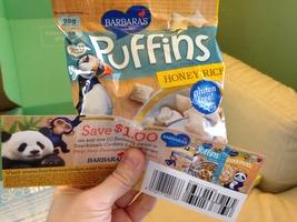 Barbara's Puffins Gluten Free plus coupon