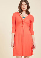 Dress for Yes Knit in Coral