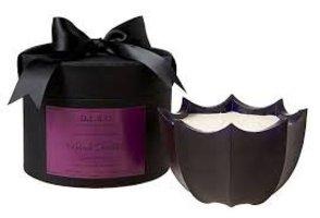 D.L. & Co. Black Dahlia Scalloped Candle