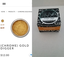 Suva Beauty Hydra Liner Cake Eyeliner in Gold Digger (Chrome)