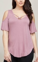 Open Love Top - Deep Antique Rose