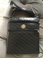 Quilted crossbody purse -black-  BRAND NEW FEBRUARY 2018. $30RV