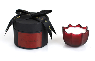 D.L. & Co Lady Rhubarb 2 oz Scalloped Candle