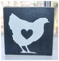 Chicken Wooden Decor Sign
