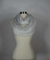 INC International Concepts Ombre Galaxy Infinity Loop Ivory Scarf Wrap