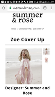 Summer & Rose Zoe cover up