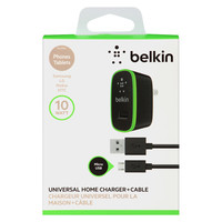 Belkin Universal Home Charger with Micro USB ChargeSync Cable (10 Watt/ 2.1 Amp)