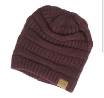 Benson Two-Tone Slouch Knit Beanie