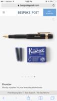 Kaweco Pen & 6 Royal Blue Cartridges
