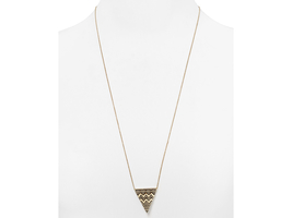House of Harlow 1960 Pavé Tribal Triangle Pendant Necklace