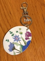 Looking Glass Broken China Keychain