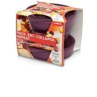 Aladdin Set of 2 Mini Collapsible Snack and Prep Bowls