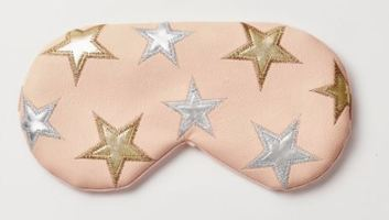 Free People Understated Leather Starry Eyed Travel Eye Mask in Ballet Pink