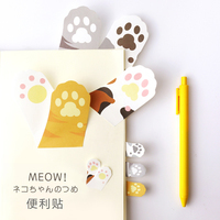 Cat Paw Print Sticky Note Tabs