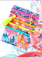 Lilly Pulitzer Hair Ties with Charms