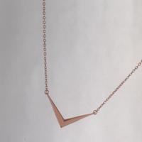 Melinda Maria Amari Mini Necklace in Rose Gold