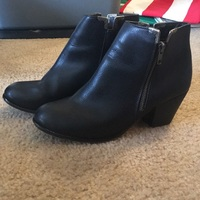 Very Volatile Booties with Silver Detailing Size 9