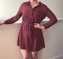 Avid Dresser Burgundy Shirt Dress - Size M