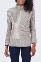 THML Mock Neck Ribbed Sweater