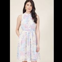 Windy City A-Line Dress in Swirls XL