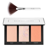 PUR Cosmetics - Elevation -  Perfecting Highlighter Palette with Fan Brush